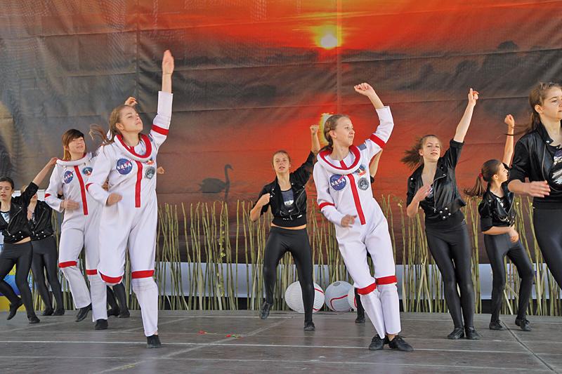 Pokazy taneczne podczas targów