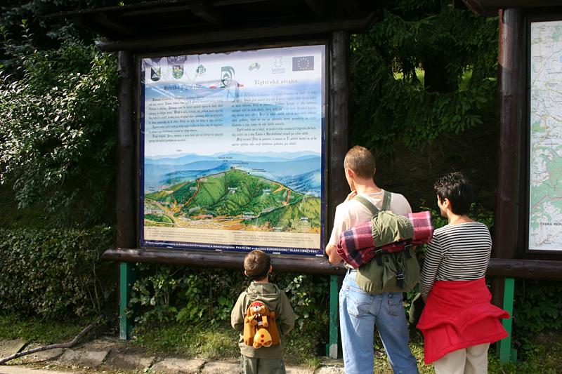 Scieżka Rycerska - poczatek trasy